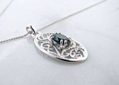 filigree-silver-green-tourmaline-necklace-wexford-jewelers
