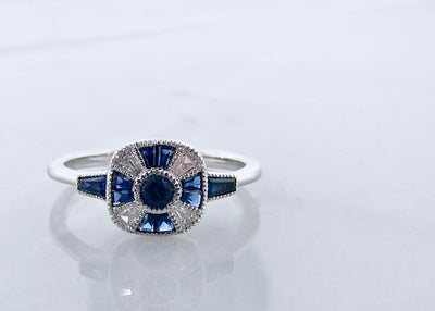 sapphire-diamond-baguette-art-deco-ring-wexford-jewelers