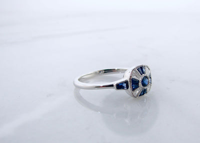 wexford-jewelers-diamond-sapphire-white-gold-vintage-ring