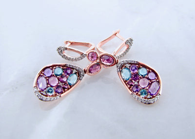 wexford-jewelers-rhodolite-garnet-topaz-amethyst-rose-gold-diamond-earrings
