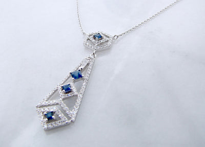 white-gold-blue-sapphire-diamond-chandelier-necklace-wexford-jewelers