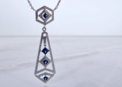 blue-sapphire-white-gold-diamond-chandelier-pendant-wexford-jewelers
