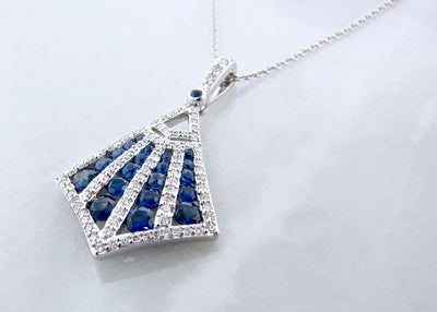 white-gold-diamond-sapphire-pendant-art-deco-wexford-jewelers