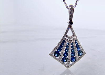 white-gold-blue-sapphire-diamond-kite-necklace-wexford-jewelers