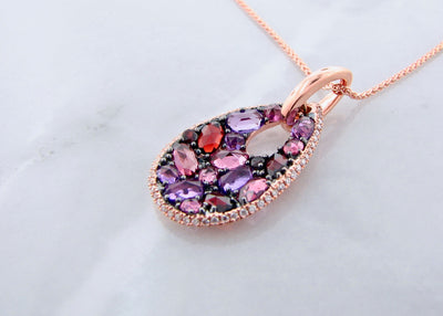 wexford-jewelers-rose-cut-gemstone-diamond-rose-gold-necklace