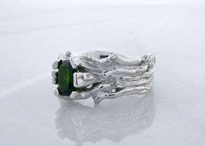 green-tourmaline-silver-ring-wexford-jewelers