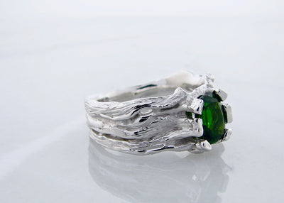 rustic-jewelry-silver-green-gemstone-ring-wexford-jewelers