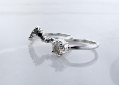 black-diamond-crown-silver-diamond-wedding-ring-set-wexford-jewelers