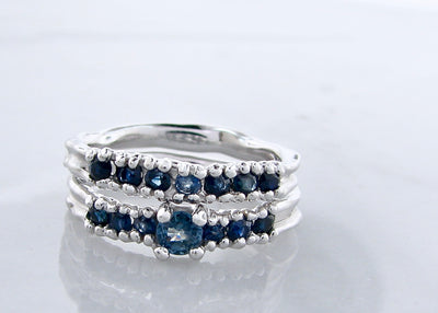 ceylon-sapphire-silver-melted-wedding-ring-set