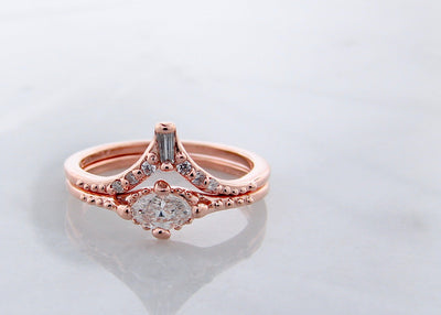 rose-gold-eiffel-tower-marquise-diamond-wedding-ring-set-wexford-jewelers