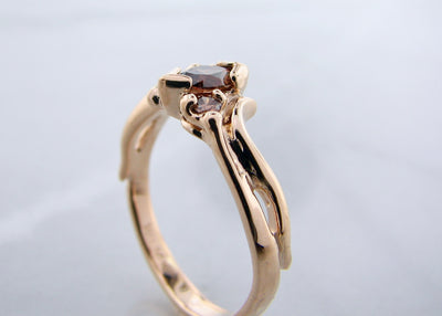 hand-crafted-chocolate-marquise-shape-diamond-yellow-gold-ring