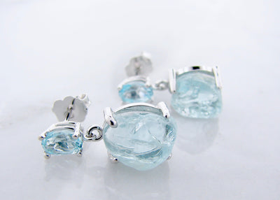 raw-aqua-marine-silver-gemstone-earrings-wexford-jewelers