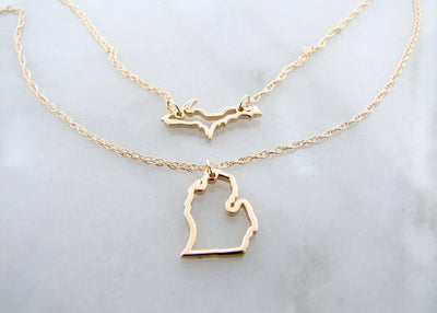 upper-lower-peninsula-michigan-14K-yellow-gold-necklace