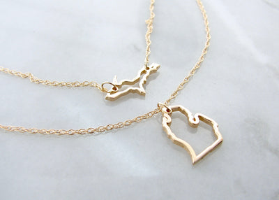 layered-michigan-necklace-wexford-jewelers-14K-yellow-gold