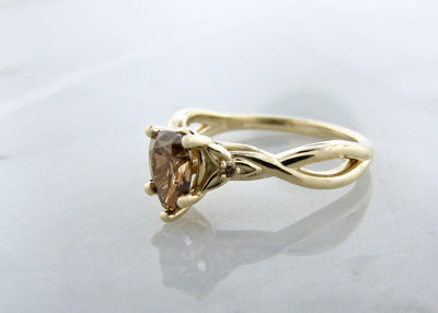 Celtic-brown-cognac-diamond-yellow-gold-ring-wexford-jewelers