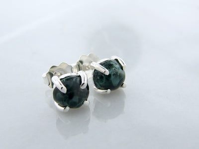 Michigan-green-stone-earring-studs-wexford-jewelers