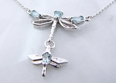 two-dragonflies-aquamarine-silver-splitchain-necklace