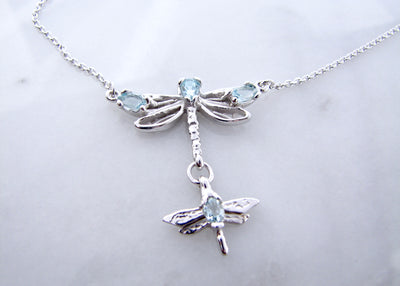 Sterling-silver-aquamarine-march-birthstone-dragonflies-necklace