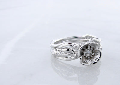 white-gold-wedding-ring-set-wexford-jewelers-rose-cut-diamond-poppy