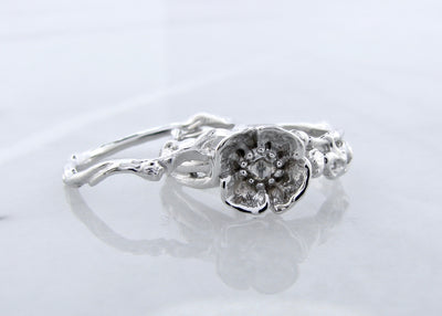 white-gold-rose-cut-diamond-poppy-wedding-ring-set-wexford-jewelers