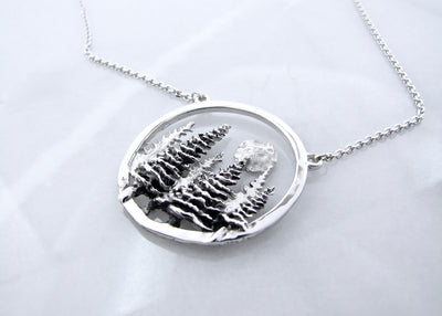 antique-silver-pine-tree-forest-moon-pendant-wexford-jewelers