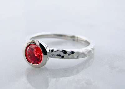 orange-quartz-silver-ring-weford-jewelers