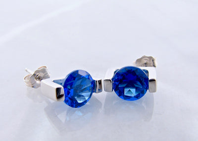 electric-blue-kashmire-topaz-silver-earrings-wexford-jewelers