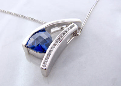 tanzanite-checker-board-trillion-cut-white-sapphire-silver-necklace-wexford-jewelers