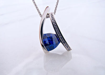 wexford-jewelers-frank-reubel-trillion-checkerboard-cut-tanzanite-necklace