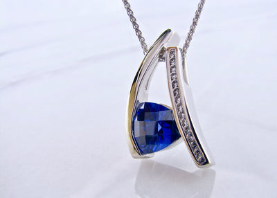 white-sapphire-silver-necklace-tanzanite-wexford-jewelers