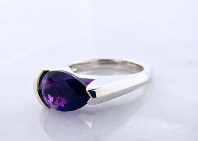 pear-shape-amethyst-silver-asymmetrical-ring-wexford-jewelers
