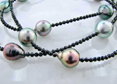 Tahitian-pearl-black-spinel-wexford-jewelers-necklace