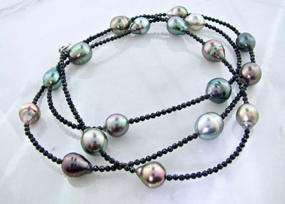 Tahitian-pearl-black-spinel-necklace-ASBA-wexford-jewelers