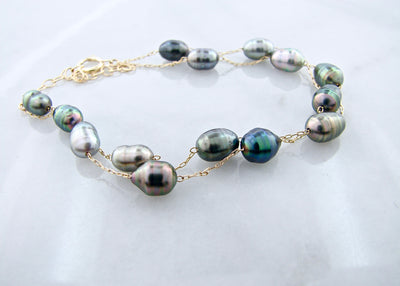 Tahitian-black-pearl-yellow-gold-bracelet-wexford-jewelers