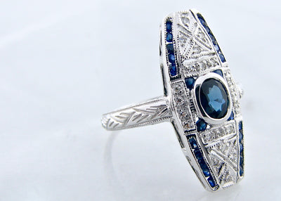 white-gold-round-sapphire-diamond-ring-wexford-jewelers-vintage