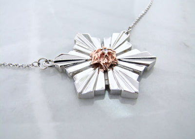 rose-gold-diamond-silver-art-deco-snowflake-necklace-wexford-jewelers