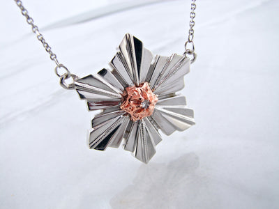 snowflake-necklace-wexford-jewelers-14K-rose-golds-silver