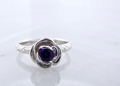 amethyst-silver-stacking-rose-vintage-ring-wexford-jewelers