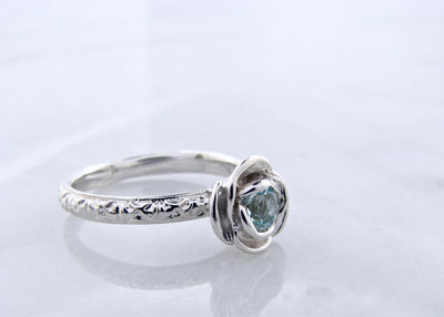 march-birthstone-silver-vintage-rose-ring