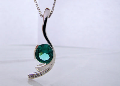 silver-pendant-white-sapphires-silver-necklace-wexford-jewelers