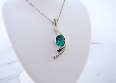 silver-white-sapphire-pendant-blue-green-quartz-wexford-jewelers