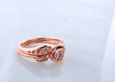 wexford-jewelers-rose-gold-moissanite-tea-rose-wedding-ring-set
