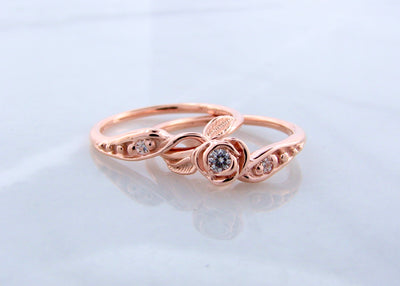 14K-rose-gold-moissanite-tea-rose-wedding-ring-set-wexford-jewelers