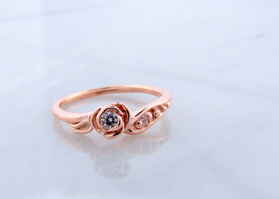 wexford-jewelers-14K-rose-gold-wedding-ring-moissanite-set