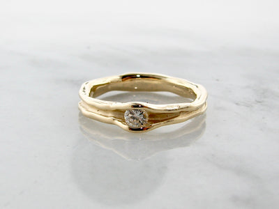 yellow-gold-melted-diamond-ring-wexford-jewelers