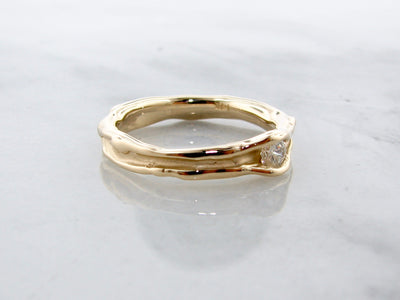 melted-band-wexford-jewelers-yellow-gold-diamond