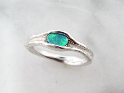 opal-silver-melted-ring-wexford-jewelers