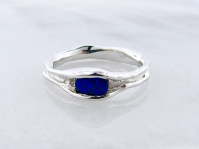 blue-opal-melted-silver-ring-horizontal-wexford-jewelers