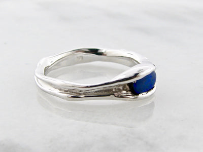 melted-band-wexford-jewelers-silver-opal-ring