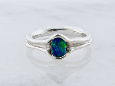 opal-skinny-melted-silver-ring-wexford-jewelers